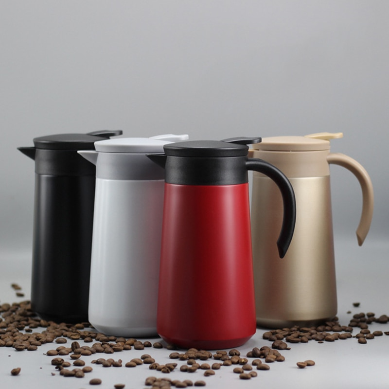 800ML Double Wall Vacuum Flask Stainless Steel Thermal Kettle Insulation Pot with Handle Coffee Tea
