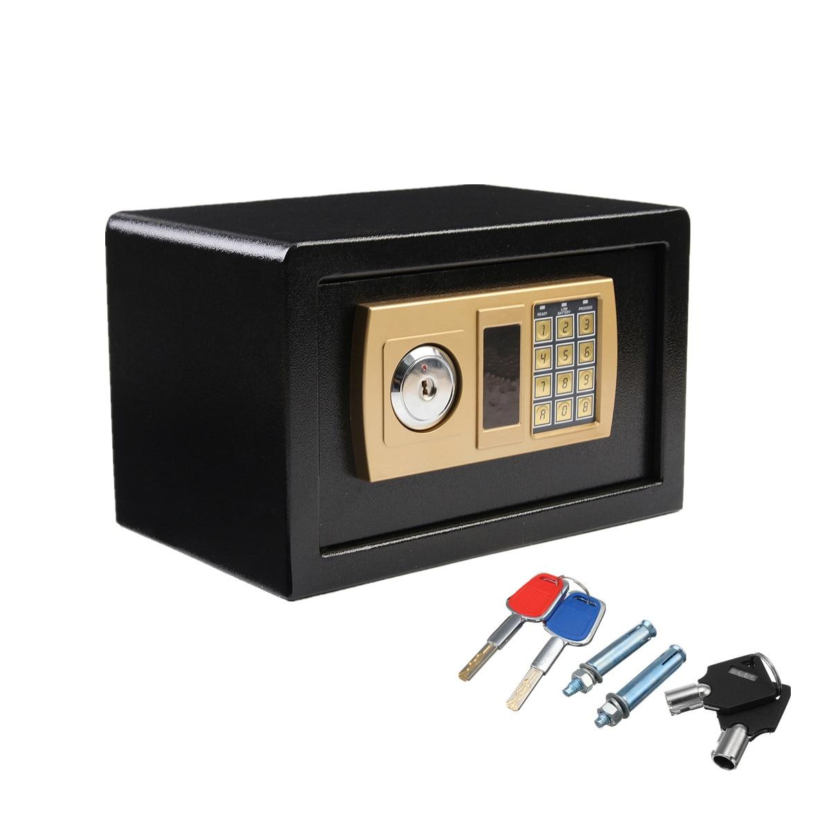 310x200x200 мм Цифровой депозитный сейф для драгоценностей, золотой электронный пароль, безопасная коробка для пожарной безопасности, горячая р...