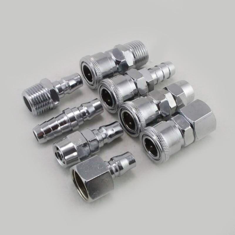 8 Uds 1/2 neumática manguera de compresor de aire accesorio herramientas enchufe de acoplamiento rápido conjunto de conectores de zócalo de aleación de Zinc para Hardware Accesorios
