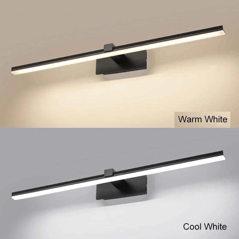 Modern Led Mirror Light 9W 12W AC90-260V Wall Mounted Industrial Wall Lamp Bathroom Light Waterproof Aluminum