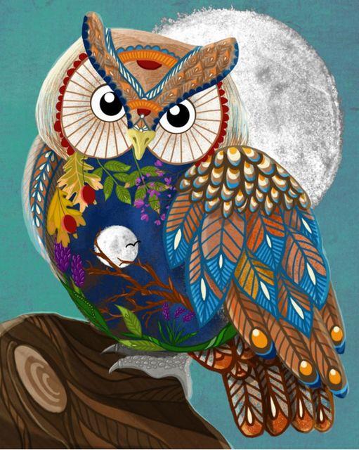 Chenistory 60x75cm Rahmen Farbe Eule Tiere Diy Malen Nach Zahlen Kit Moderne Wand Kunst Bild Acryl Farbe Durch Zahlen Für Geschenk Paint By Number Aliexpress