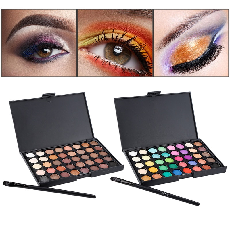 40 Colors Mini Eyeshadow Plate Cosmetic Matte Eye Shadow Cream Make-Up Palette Shimmer Easy To Wear