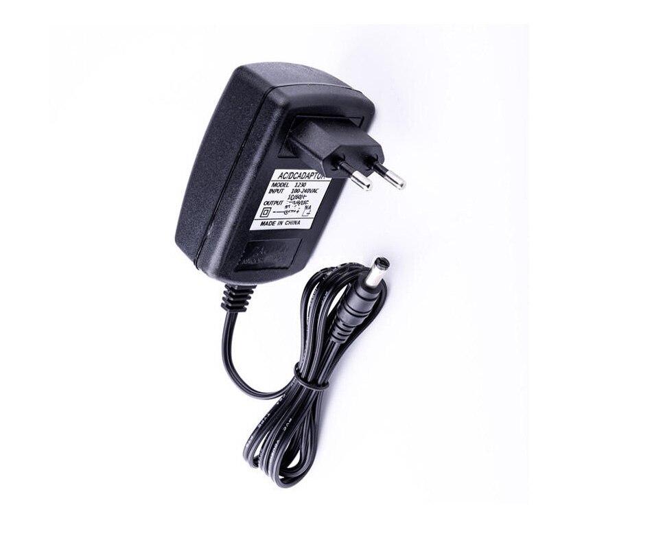 Adaptador de corriente CA 100-240V cc 12V 1A UE enchufe CA/CC adaptador de corriente cargador para cámara CCTV (2,1mm * 5,5mm)
