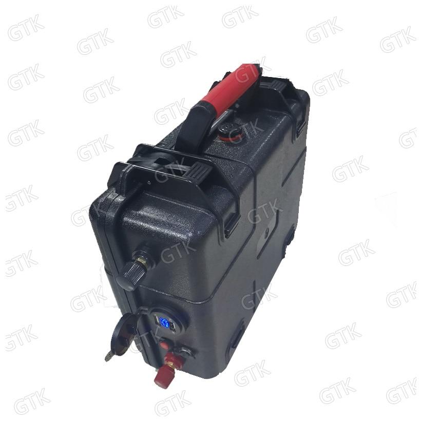 waterproof 12v 80ah lithium battery 12v 40AH 60AH 100AH 120AH 150AH USB Solar Energy Storage Battery fishing boat  + 10A charger enlarge