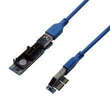 PCI-E 1X к X1 удлинитель адаптер USB 3,0 кабель SATA питания PCI Express удлинитель для ПК материнская плата PCIE X1 слот Riser Add On Card
