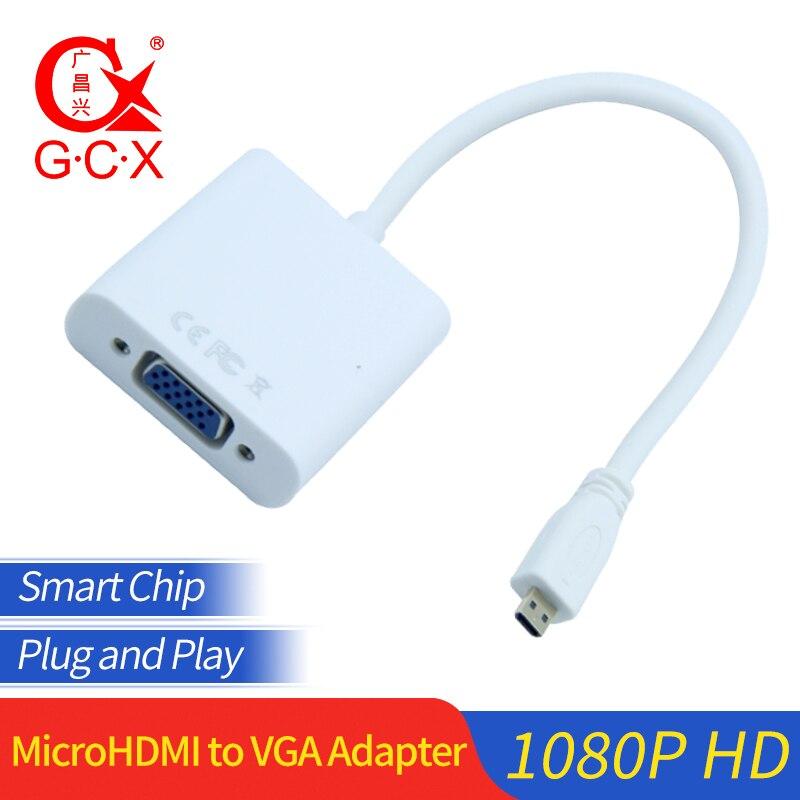 Микро HDMI к VGA конвертер адаптер папа к женскому 1080P для ПК HDTV xbox камера планшет микро HDMI видео адаптер