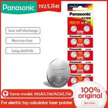 10 Pièces/1 Paquet PANASONIC LR41 192 AG3 0% Hg 192 392A 1.5V batteries Pour calculatrice 0% Hg