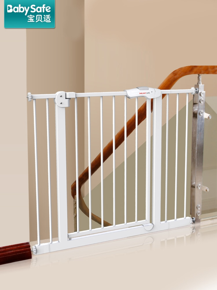 Stairway guardrail child safety gate vertical baby gate fence fence pet isolation pet fence railing without perforation enlarge