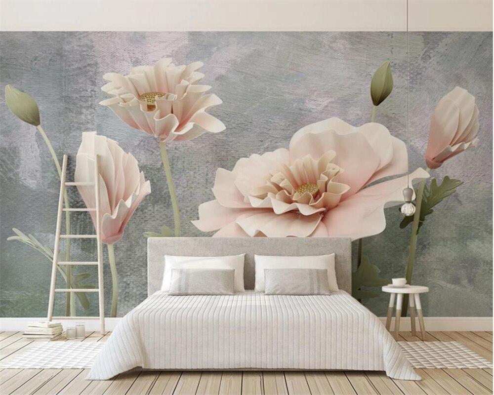 Papel pintado personalizado de la foto de beibehang mural moderno 3d papel pintado colorido de la flor para las paredes Mural abstracto arte 3d papel de pared dormitorio