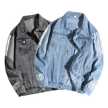 Jeans chaqueta de béisbol de los hombres chaqueta azul de mezclilla de moda de alta calidad Anti-contracción Jeans Hoodie Veste Homme Sweat Mode Hommes 2020 Win