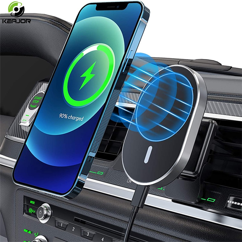 Magnetic Wireless Car Charger AirVent Mount Compatible With For Magsafe iPhone 12 ProMax Mini 15W Fa