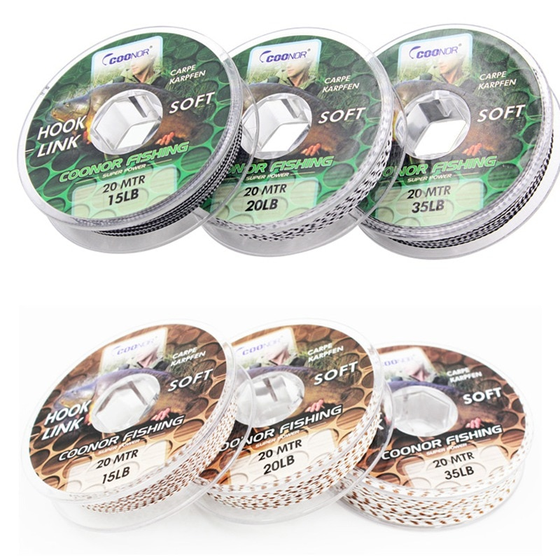 Carp Fishing Line 15Lbs 20Lbs 35Lbs 20Meters Carp Rig Hook Link Making Sinking Braided Lead Core Line Fishing Line enlarge