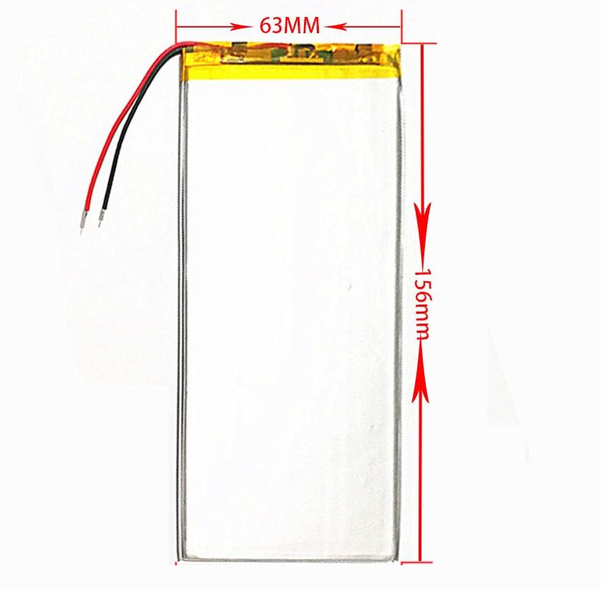 3263156 3.7V 5000mAh Rechargeable Li-Polymer Li-ion Battery For RoverPad Air C10 3G Q10 3G /Ginzzu GT-1020 /Dexp Ursus TS210