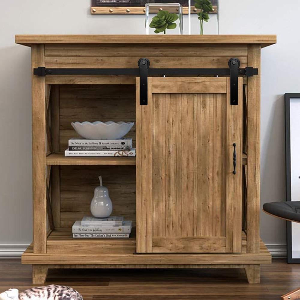 24'' to 72'' Mini Cabinet  Sliding Barn Door Hardware for Double Door