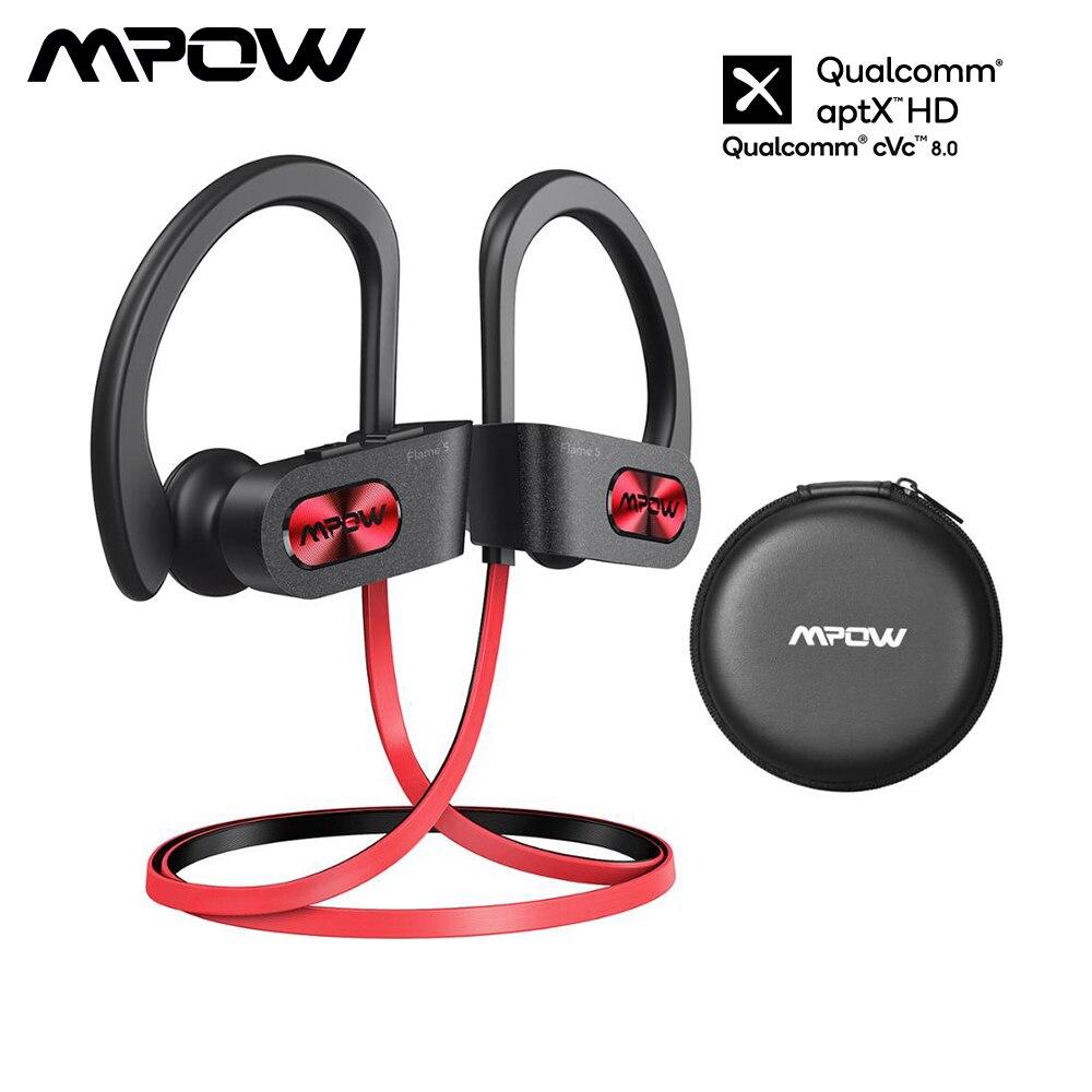 Mpow Flame S سماعات لاسلكية aptX HD بلوتوث 5.0 سماعة مع IPX7 مقاوم للماء باس + إلغاء الضوضاء هيئة التصنيع العسكري 12H وقت اللعب