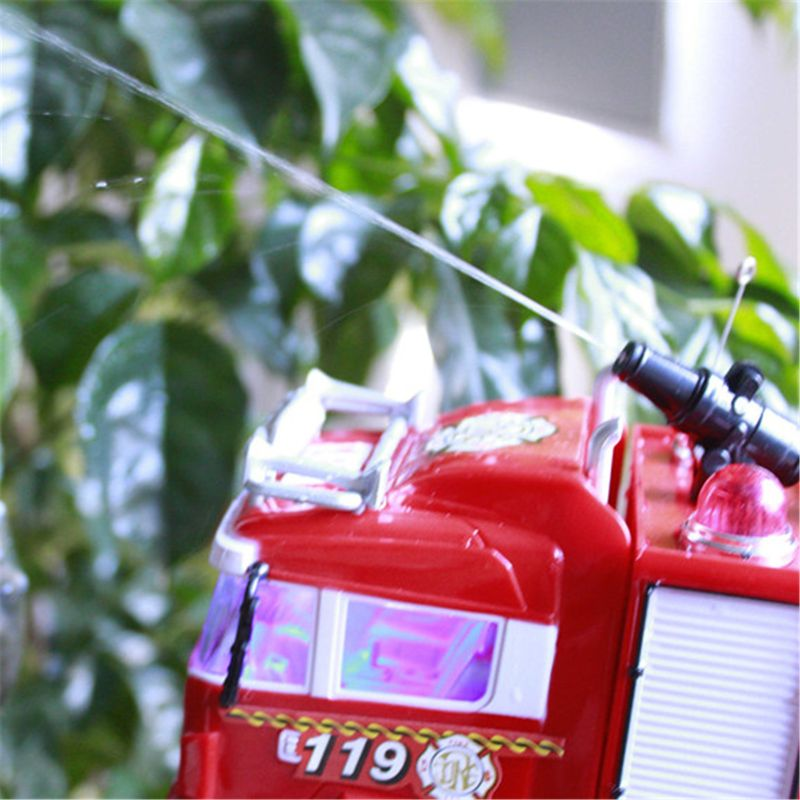 RC Water Spray Fire Truck Music Light Remote Control Car Kids Toy Boy Gift enlarge