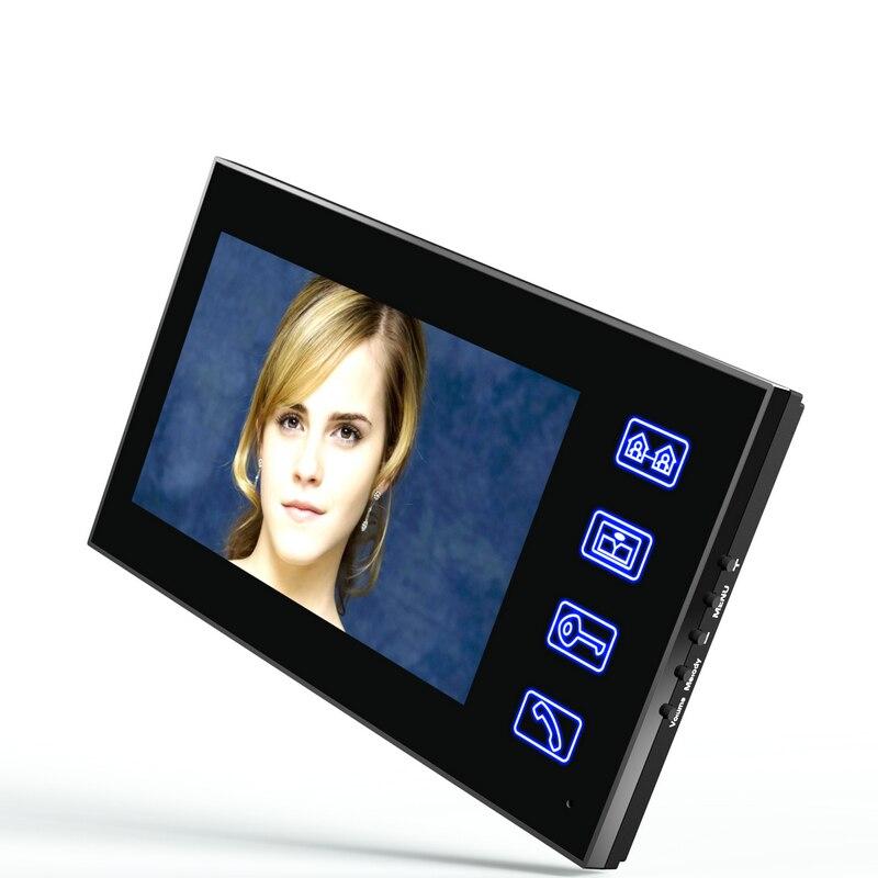 7 Inch Video Door Phone Doorbell Intercom Kit 1-camera 2-monitor Night Vision with IR-CUT 1000TVL Camera enlarge