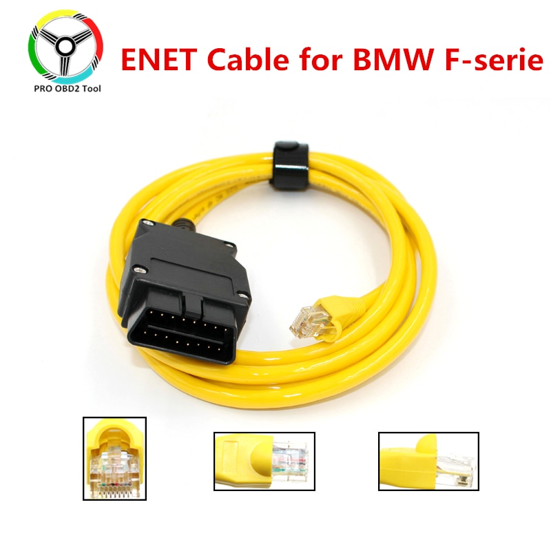 Quality E-SYS ENET cable for BMW F-series ICOM OBD2 Coding Diagnostic Cable Ethernet to ESYS Data OBDII Coding Hidden Data Tool