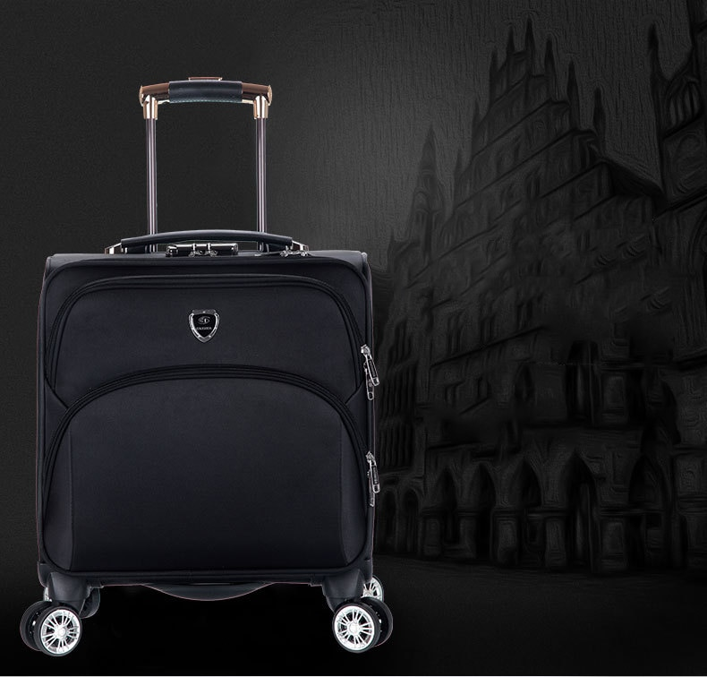 New 18 Inches Oxford Trolley Case Portable Luggage High Quality Suitcase Trolley Wheeled Carrying Bag Business Valise Trip Bags