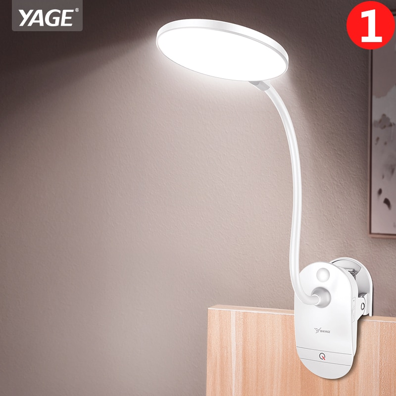 LED Touch Clip Настольная Лампа Чтение Диммер Аккумуляторная USB flexo Светодиодные Настольные Лампы настольная лампа 1200mAh