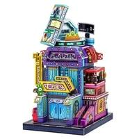 art model mu 3d metal puzzle art tour japan games city model kits diy laser cut assemble jigsaw toy gift for children
