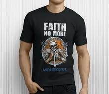 Nouvelle foi NO MORE Midlife crise groupe de Rock Legend hommes T-Shirt noir taille S-3XL