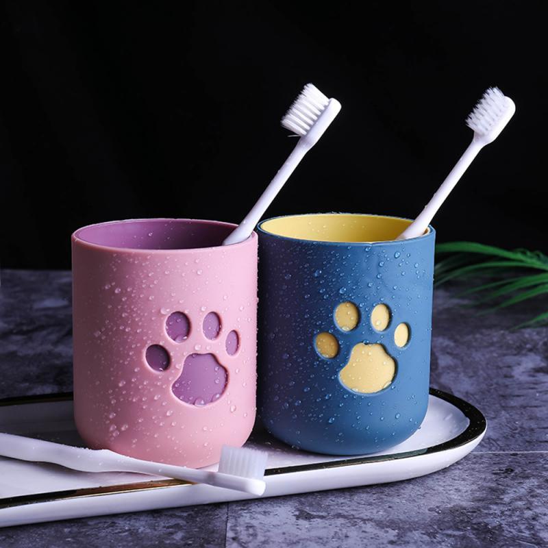 Copo de escova de dentes gato garra padrão lavar caneca de dente durável boca grande casais copos amigável suprimentos do banheiro copo de lavagem