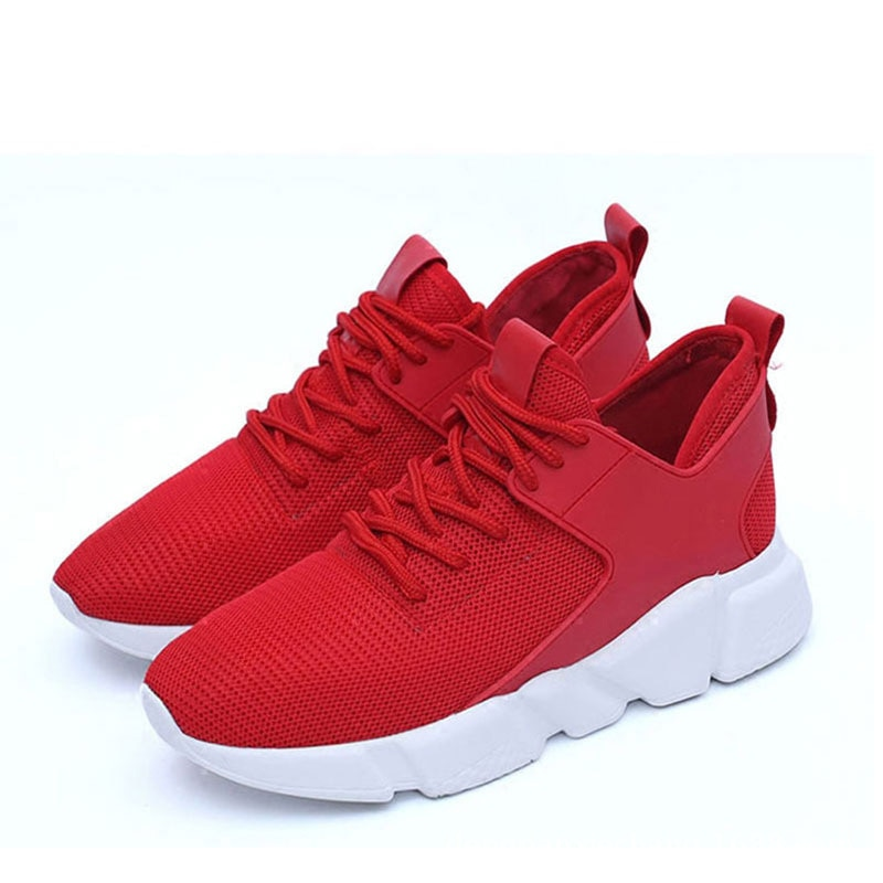 Fashion spring and summer new style flying woven through mesh lightweight soft sole womens sports shoes