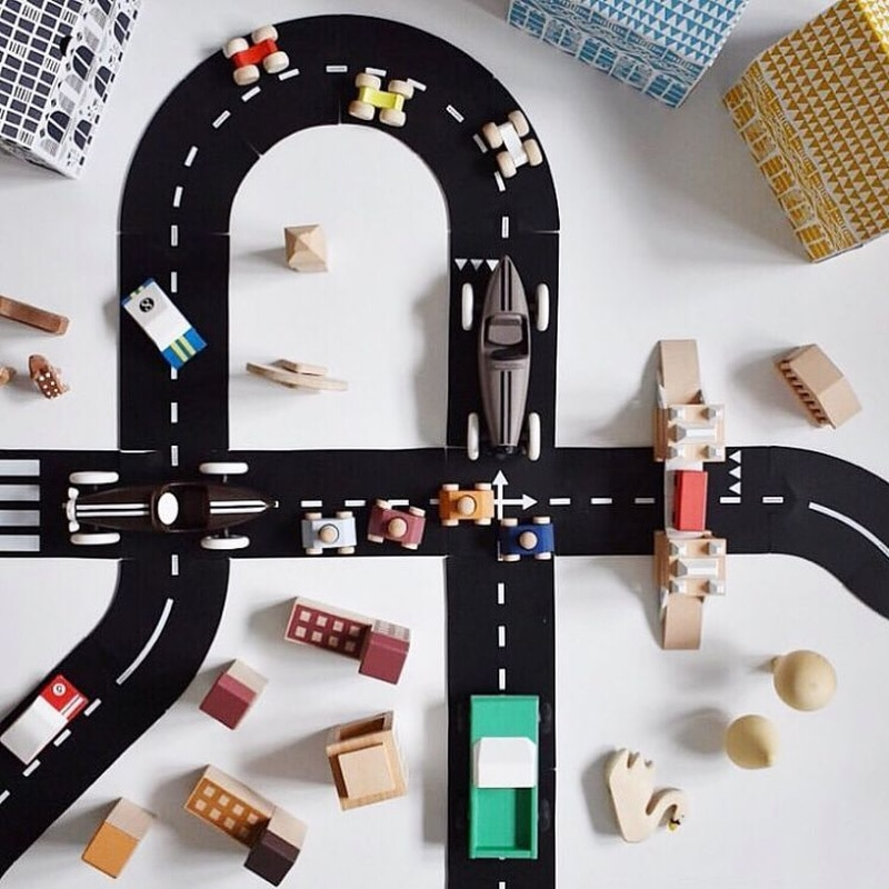 Kids Educational Learning Traffic Toys for Children Road Building Toy Car Roadway  Expressway Motorway Flexible Puzzle Track Set