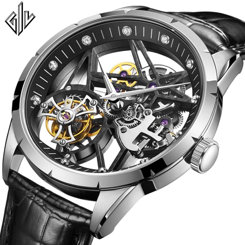 2021 GIV Tourbillon Mechanical Watch 100% Original Movement Waterproof Skeleton Double Sapphire Tourbillon men's sports watch