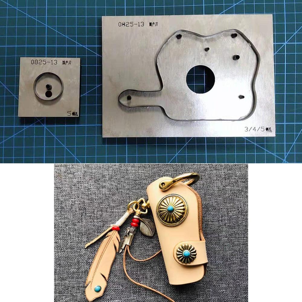 Сделай Сам кожевенное ремесло Автомобильный ключ кольцо Обложка сумка нож формы резки штампы ручной удар инструмент-шаблон 11 см длина