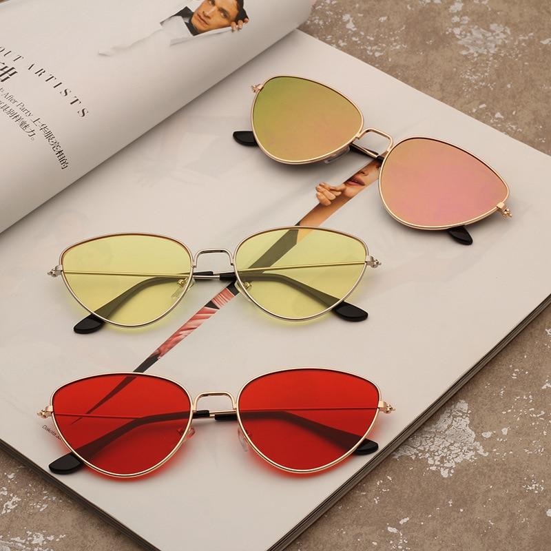 Nogo, nuevo estilo, gafas de sol metálicas con forma de ojo de gato, gafas de sol para mujer y hombre de Europa y América, gafas de sol de moda