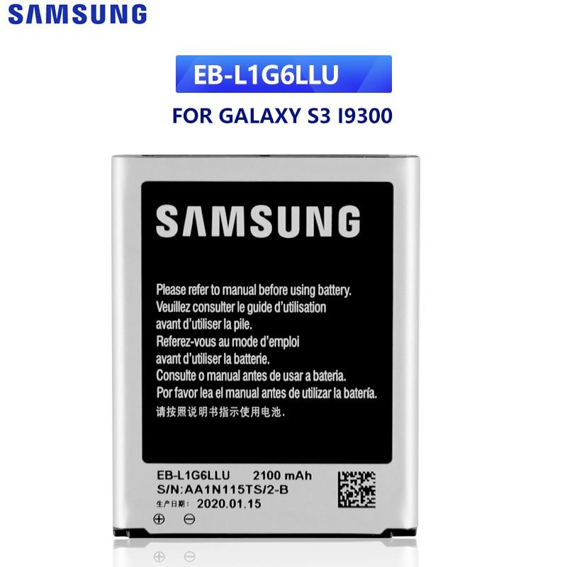 SAMSUNG Original Replacement Battery EB-L1G6LLU For Samsung GALAXY S3 I9300 I9128v I9308 I9060 I9305 I9308 L710 I535 EB-L1G6LLA