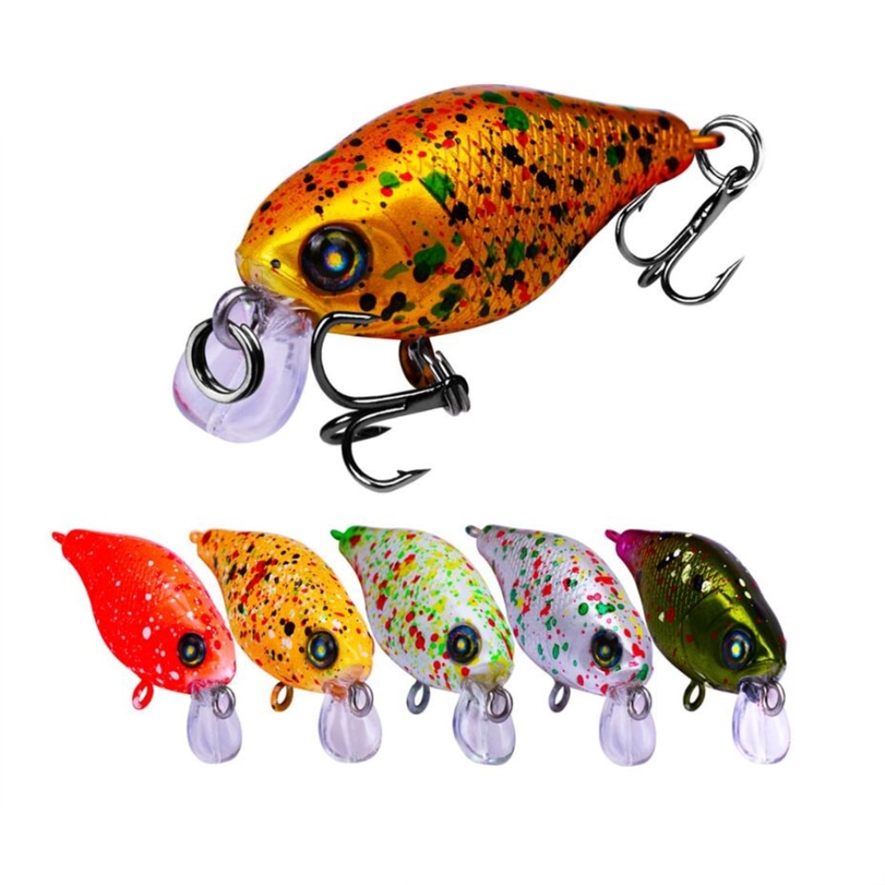 5pcs/lot mini crankbait Fishing lures wobbler 4.5g 4.5cm Hard Artificial plastic Baits Trout Swimbait Bass carp fishing pesca
