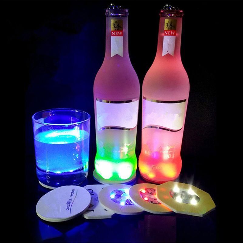 Luminária led de garrafa para costeira, suporte de luz para bebidas, lanterna, adesivo de led copo copo costeiro