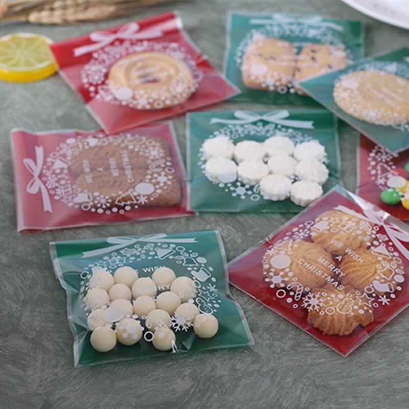 Pacote de doces adesivos opp, saco auto-adesivo decorativo para doces e biscoitos, com 100 peças fonte de fornecimento