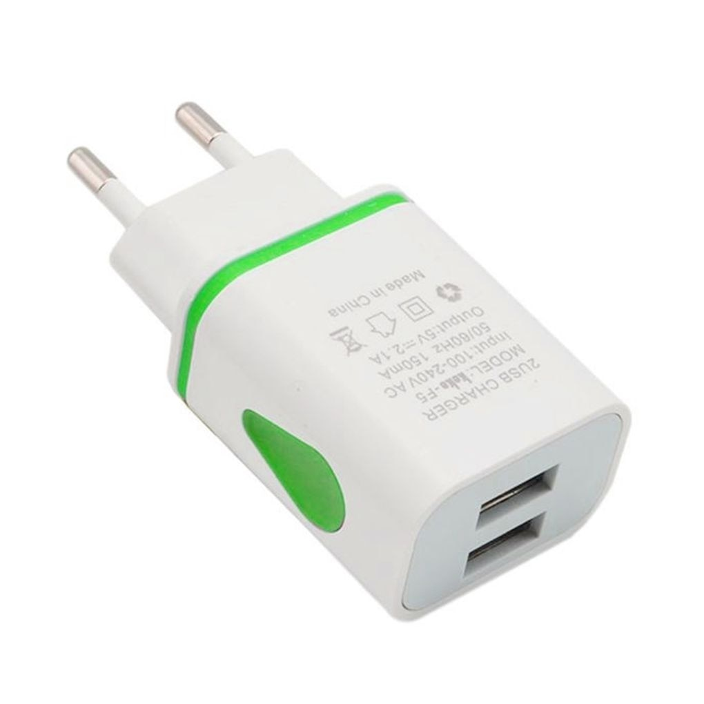 Universal Phone 2.1A 5V LED 2 USB Charger Fast Wall Charging Adapter US/EU Plug USB Charger For iPho