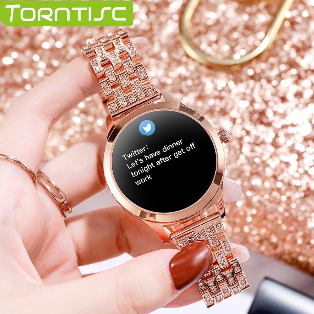 Torntisc ساعة ذكية للنساء LW07 1.09 بوصة ساعة يد ذاتية الصنع الوجه IP67 مقاوم للماء المرأة Smartwatch 2021 لنظام أندرويد IOS اللياقة البدنية على مدار الساعة