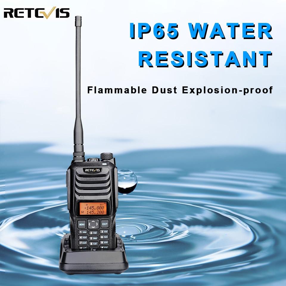 Retevis RT56 Explosion-proof Walkie-Talkie Portable Two-Way Radio IP65 Waterproof 3.5W VHF UHF 136-174 & 400-480MHz Transceiver
