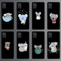 lovely anime koala phone case for samsung galaxy a51 a71 a50 a21s a12 a31 a10 a20e a41 a70 a30 a11 a40 a20s silicone cover
