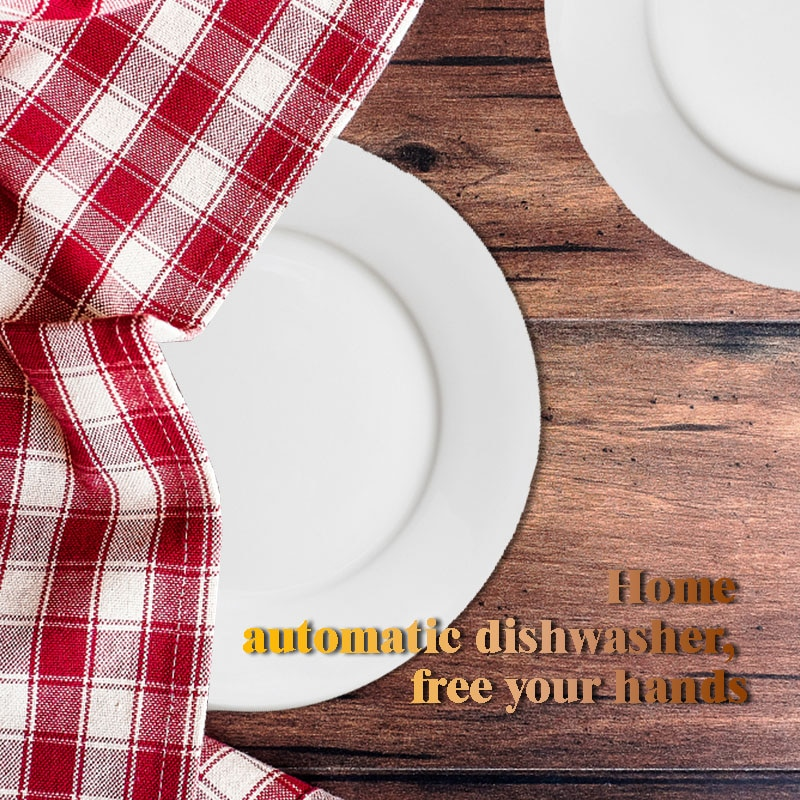 Intelligent automatic dishwasher consumer and commercial desktop free installation of small air-drying dishwasher