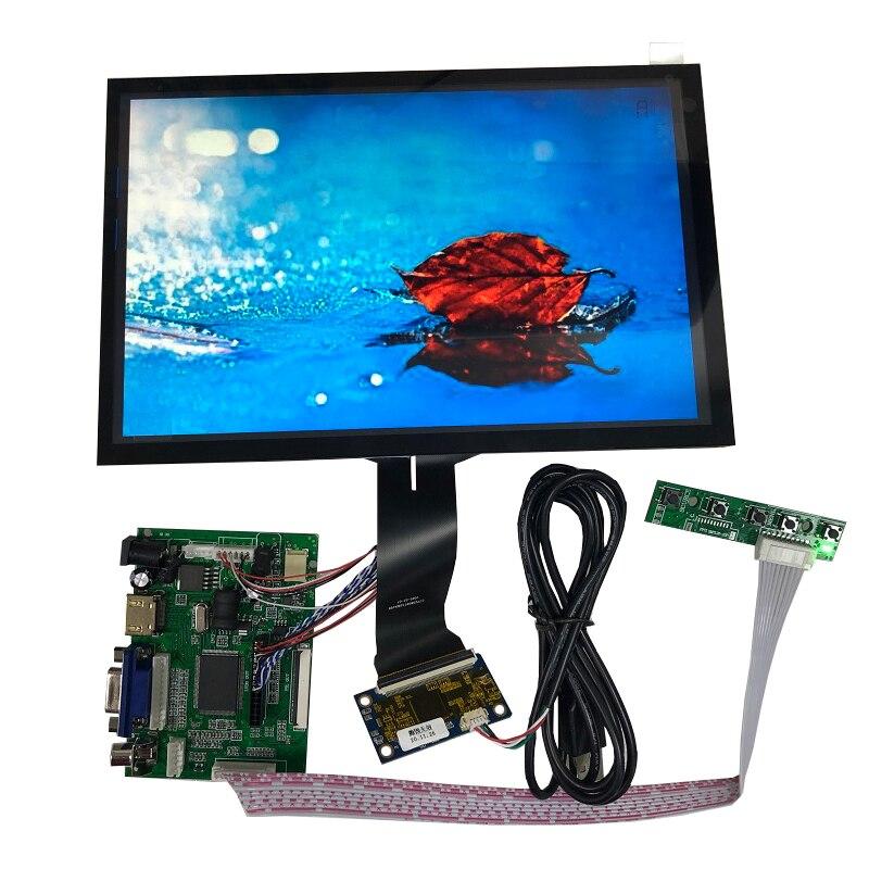 شاشة اللمس بالسعة 10 نقاط 16:10 10.1 بوصة 1280x800 VGA HDMI LVDS عرض 450 nits عالية السطوع IPS