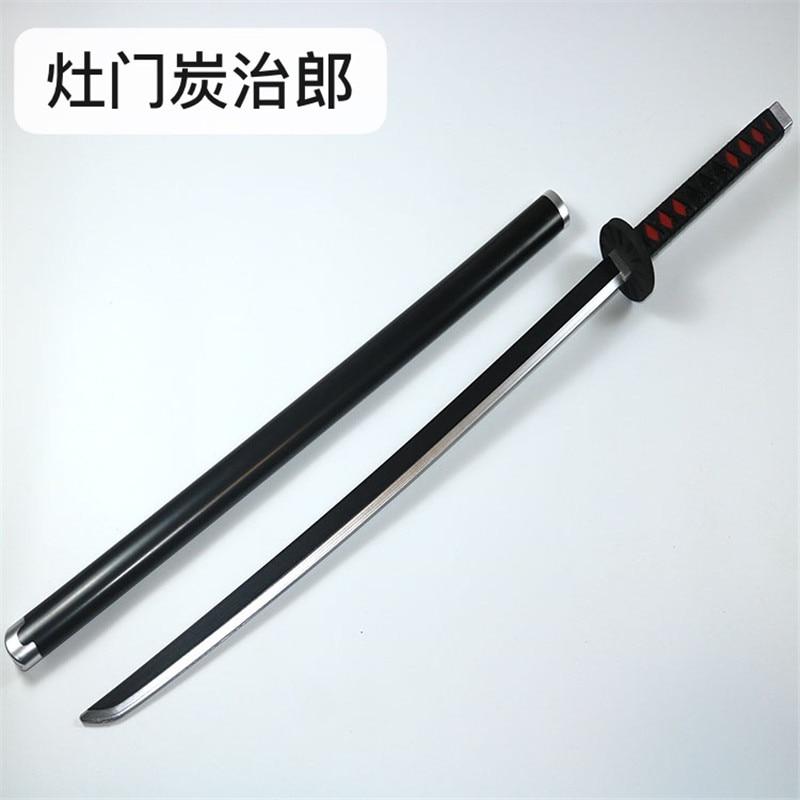 Kimetsu لا Yaiba السيف سلاح شيطان القاتل Satoman Tanjiro عالية الجودة تأثيري السيف 1:1 أنيمي النينجا سكين بو الدعامة السيف 104 سنتيمتر