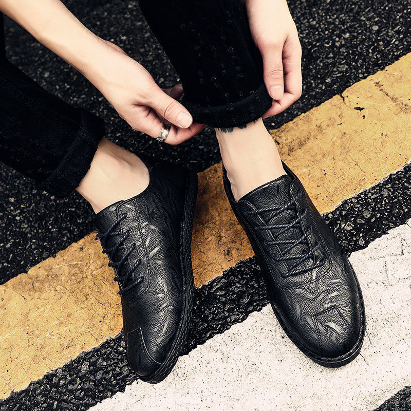 Casual shoes men's 2021 summer new trendy non-slip waterproof black brown fashion shoes
