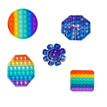 Hot Push Bubble Fidget Toys Adult Stress Relief Toy Antistress Popit Soft Squishy Anti-stress Gift A