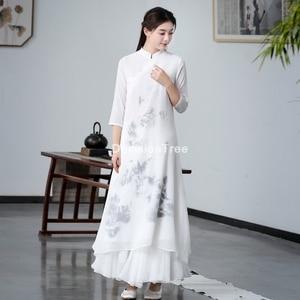 2021; Сетчатая ткань; Китайское платье-Ципао qipao для женщин вечернее платье улучшилось cheongsam шифоновое элегантное платье подружки невесты кружевное свадебное платье Вечерние qipao