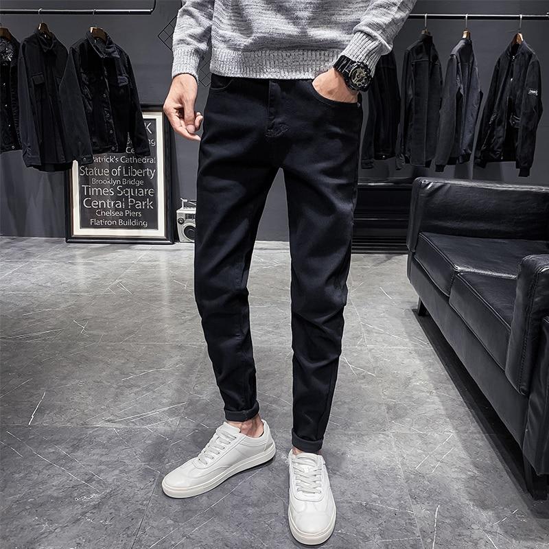 Men Classic jeans men Jean Homme Pantalones Hombre Men Soft black pants Masculino Denim Overalls Men