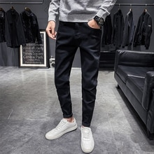 Men Classic jeans men Jean Homme Pantalones Hombre Men Soft black pants Masculino Denim Overalls Men