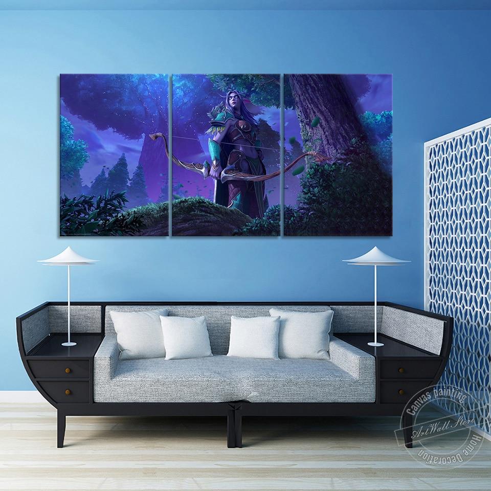 Warcraft 3, pintura en lienzo sin marco, decoración del hogar, póster de videojuegos, lienzo, cuadros artísticos de pared para sala de estar y sala de juegos
