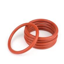 Junta tórica de silicona roja OD 15-80mm espesor 4mm anillo de sellado de grado alimenticio Impermeable y aislado 5-100 Uds.